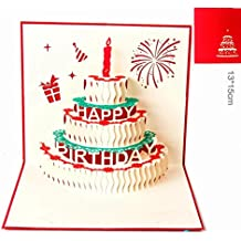 Tarjeta de cumpleaños pop Paper Spiritz feliz cumpleaños tarjeta de cumpleaños Navidad personalizada niña niño original gigante 3D birthday card