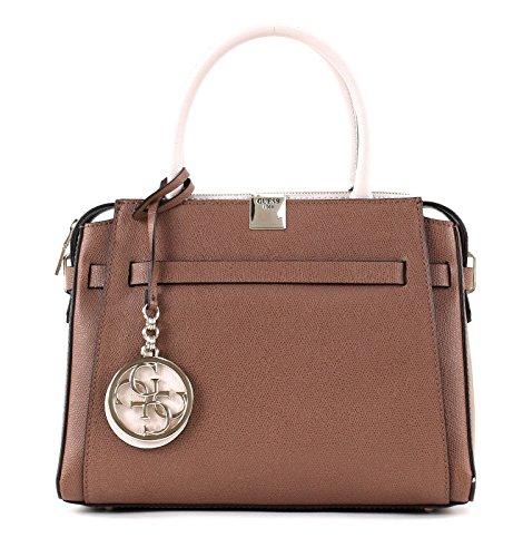 GUESS Christy Girlfriend Satchel Mocha (Satchel Zweifarbige Handtasche)
