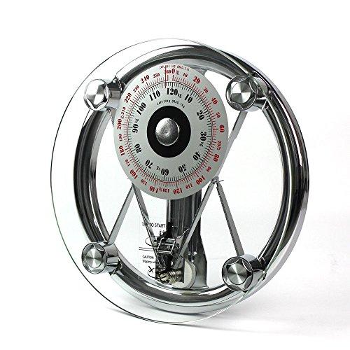 Personenwaage Mechanische Körperwaage Gewichtswaage 150 kg/330lb Waage Glaswaage Glas Chrom Körper wiegen