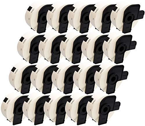 Prestige Cartridge 20x DK11201 29mm x 90mm Adress-Etiketten für Brother P-Touch QL-500 QL-550 QL-570 QL-700 QL-720 QL-800 QL-810 QL-820 QL-1100 QL-1110 Etikettendrucker (400 Etiketten pro Rolle)