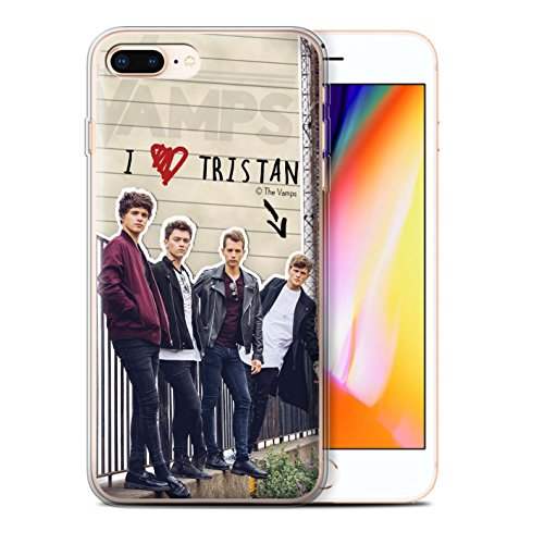 Offiziell The Vamps Hülle / Gel TPU Case für Apple iPhone 8 Plus / Band Muster / The Vamps Geheimes Tagebuch Kollektion Tristan