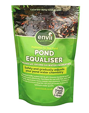 Envii Pond Equaliser - Instantly Balance Buffer and Stabalises Safe pH, KH and GH Levels to Make Perfect Pond Environment (750g)