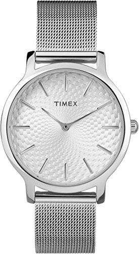 e8305f20f1ae Timex Reloj Analógico-Digital para Mujer de Cuarzo con Correa en Acero  Inoxidable TW2R36200