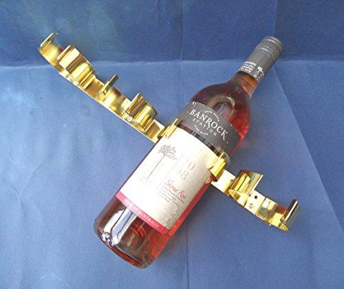 Preisvergleich Produktbild 1–2X, für 4Weinflaschen Halter. Metall. Messing vergoldet. Wohnmobil/Wohnwagen/Caravan/Wohnmobil/statisch. 340mm lang