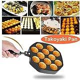 12 Cavidades Aluminio antiadherente Takoyaki Grill Pan Placa Bola de Pulpo / Pancake Maker Molde para hornear