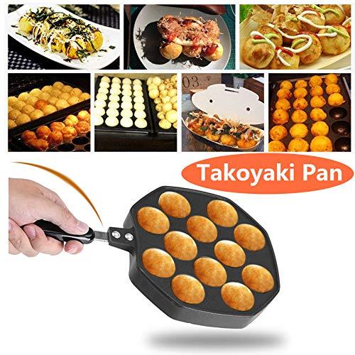Aluminium Takoyaki Grill Pan Non-Stick Octopus Grill Tray Octopus Ball / Pfannkuchen Maker Backform 12 Löcher
