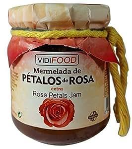 Confettura Extra di Petali di Rosa Artigianale - 210 g - All'Origine Spagnola - Fatta in Casa, la Migliore Qualità ed al 100% Naturale - Ampia Varietà di Sapori