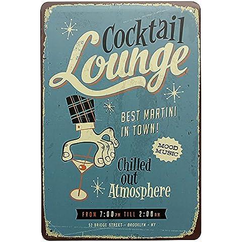 Bluelover Il salone di placca di metallo Vintage Tin segno Pub parete arredamento cocktail bar