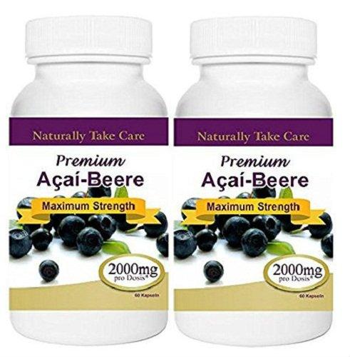 Ernährung-energie-gewichts-verlust-pillen (Packung mit zwei Acai Berry 2000mg Premium-Gewicht-Verlust-Pillen. Strong & Flink Abnehmen Kapseln. Zufriedenheitsgarantie 100%!)