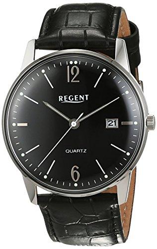 Regent Herren-Armbanduhr Analog Quarz Leder 11110729