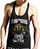 Stylotex Stringer Tank Top Training to go Super Saiyan Fitness Gym Shirt Supercool-Material mit Feuchtigkeitsregulierung, Farbe:schwarz;Größe:L