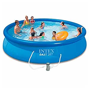 Intex easy set piscina fuoriterra tonda guanciale - Piscina gonfiabile amazon ...
