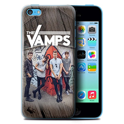 Offiziell The Vamps Hülle / Case für Apple iPhone 5C / Pack 6pcs Muster / The Vamps Fotoshoot Kollektion Holz-Effekt
