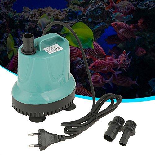 Filfeel Tauchpumpe, Wasserpumpe Kunststoff 2000L/H Aquarium Gartenteichpumpe Garten Teich Wasser Pumpe Blau(SM-25L)