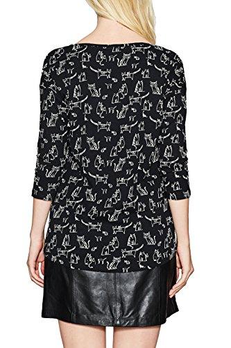 Esprit, T-Shirt à Manches Longues Femme Multicolore (Black 001)