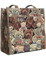 Signare Damen Tapisserie Mode Einkaufstasche Teddy