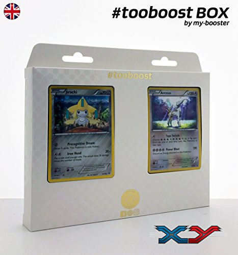 ESAM Box #tooboost JIRACHI und ARCEUS - Xy - 10 English Karten Pokemon