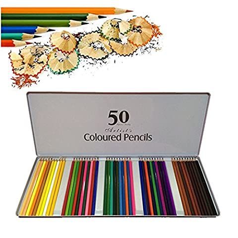 COFIVE 50 Pack Premium Colored Pencil Art Colouring Drawing Pencils for Kids Artist Painting Sketch Writing Adult Coloring Books Secret Garden Art Applies Doodling Scrapbook With Exquisite Pencil