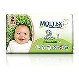 126 St. MOLTEX Nature No1 Peanuts Ökowindeln Babywindeln MINI Gr 2 (3-6 kg) 3x 42 Stück