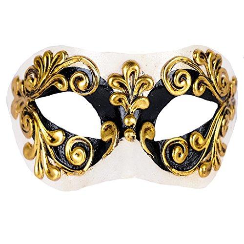 Unbespielt Handarbeit Original Venezianische Maske Damen Colombina Occhi schwarz
