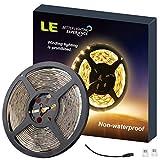LE 12V DC LED 5m Streifen, warmweiß Streifenlicht, 300 Stück 3528 LEDs, LED DIY Strip, Lichtleiste mit klebeband