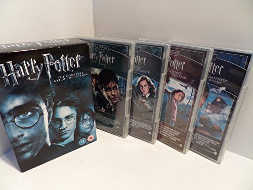 The Harry Potter 1 - 8 Complete DVD Collection: Philosphers Stone, Chamber of Secrets, Goblet of Fire, Prisoner of Azkaban, Order of the Phoenix, Half Blood Prince, Deathly Hallows Part 1, Deathly Hallows Part 2 + Extras + Featurettes etc by Daniel Radcliffe (Harry Potter Goblet Film)