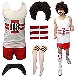 Eshopping Warehouse Herren Frauen Marathon 118Unisex Kostüm Retro Weste Kurz Hen Do Outfit Größe L Mens Full Set