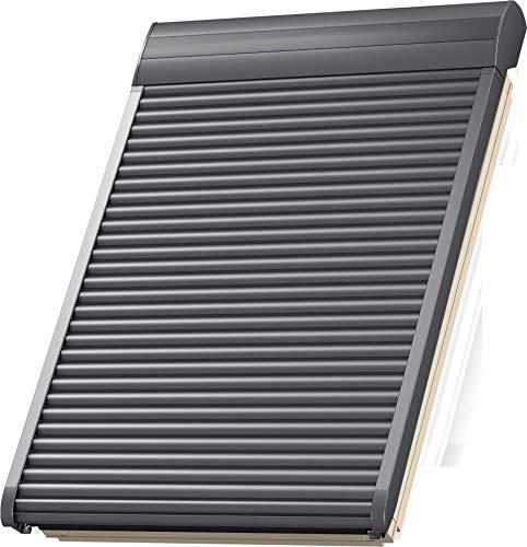 VELUX Elektro-Rollladen SML MK08 0000S, Aluminium Dunkelgrau