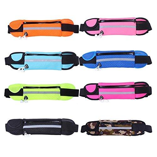 Camouflage : Livecity Unisex Waterproof Outdoors Running Sport Cellphone Reflective Waist Pack Bag