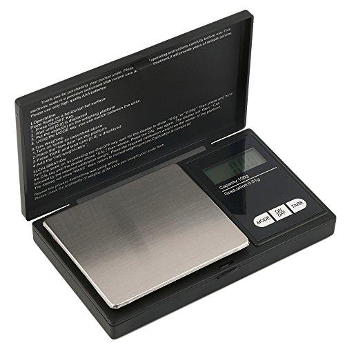 Hoosiwee Báscula Digitales de Precisión,100g 0.01g Balanzas de Portátiles, Báscula de Joyería,...