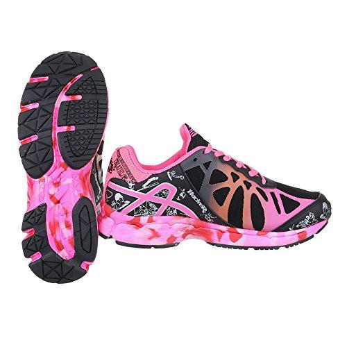 Ital-design - Chaussures Fermées Pour Femmes Schwarz Pink 37-h61223b-