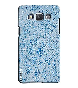 Omnam Sky Blue Crystals Printed Designer Back Cover Case For Samsung Galaxy A7