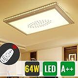HG® 64W LED Deckenleuchte Eckig Dekor Wohnraum Lampe Sternenhimmel Beleuchtung Dimmer