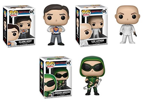 FunkoPOP Smallville Clark Kent Lex Luthor Green Arrow Stylized TV Vinyl Figure Bundle Set NEW