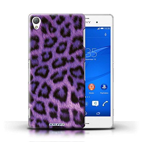 Kobalt® Imprimé Etui / Coque pour Sony Xperia Z3 / Pourpre conception / Série Peau de Léopard Animal Pourpre