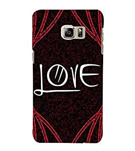 FUSON Text Love With Curly 3D Hard Polycarbonate Designer Back Case Cover for Samsung Galaxy Note Edge :: Samsung Galaxy Note Edge N915Fy N915A N915T N915K/N915L/N915S N915G N915D