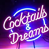 ZEREN(TM) 17*14 INCH Cocktails And Dreams Beer Bar Open Neon Signs