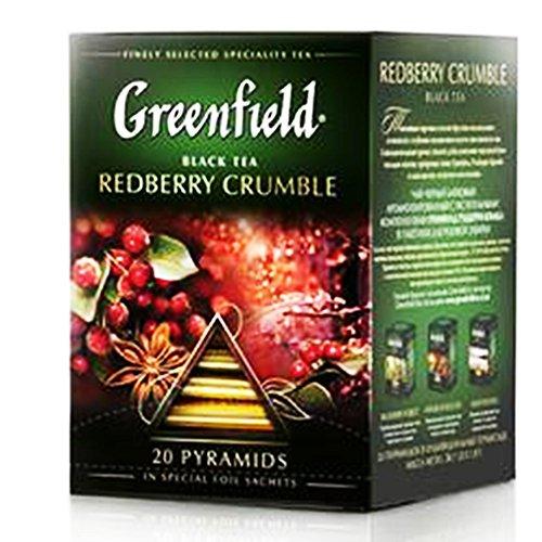 Greenfield Schwarztee Redberry Crumble 2er Pack (2 x 20 Pyramidenbeutel) Tee black Pyramid Tea