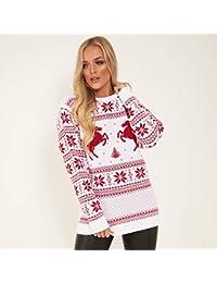 Amazon.it  maglione natalizio - Multicolore   Donna  Abbigliamento 4d339a31389