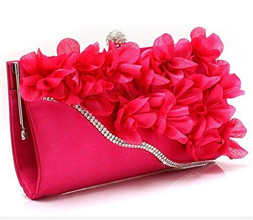 ISHOW - Borsa a tracolla donna Rosso/Rosa