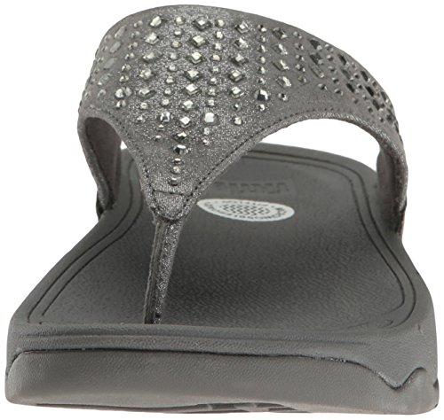 FitFlop Novy, Sandales Plateforme Femme Gris - Grey (Pewter 054)
