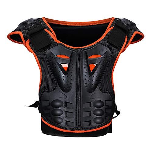RENNICOCO Kinder Brustwirbelsäule Schutz Körper Rüstung Weste Schutzausrüstung für Dirt Bike Motocross Snowboard Skifahren -