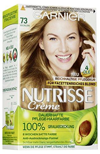 Garnier Nutrisse Creme colorazione naturale polvere glitterata Ambra Blond 9.34/colorazione per capelli per permanente colore dei capelli (con 3naehrenden Oli)-3X 1pezzi