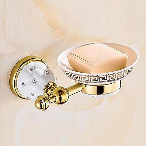 Modylee Nuova Golden finitura ottone sapone cesto plumbin/sapone titolare /bagno