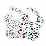 tiddlers & nippers - easy-bib | Baby Kleinkind Infant Lätzchen (2er Pack) | 6–36 Monate | Wasserfest Abwaschbar | Eine Grösse | Strand / Ausgräber