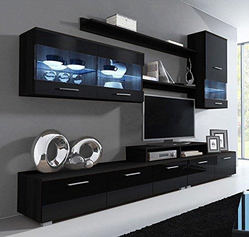 muebles bonitos Letti e Mobili - Mobile da soggiorno Claudia nero ...