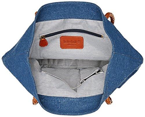 Timberland Tb0a1d2j, Borsa a Spalla Donna, 15.5x34x38 cm (W x H x L) Blu (Vintage Indigo)