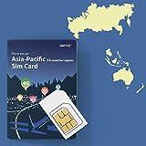 Thailand, Philippinen, Malaysia, Taiwan, Hongkong usw. 14 Länder Prepaid-SIM-Karte 5 GB / 14 Tage, GMYLE Asia 4G LTE / 3G-Internetdaten, unterstützt Facebook Instagram YouTube in China (nur Daten)
