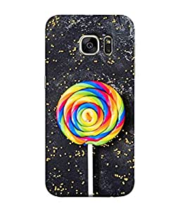 PrintVisa Designer Back Case Cover for Samsung Galaxy S7 :: Samsung Galaxy S7 Duos :: Samsung Galaxy S7 G930F G930 G930Fd (Pattern Abstract Illustration Tasty Colorful Lolly Sugar Attractive)