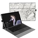 Fintie Hülle für Microsoft Surface Pro 6 (2018) / Pro 5 (2017) / Pro 4 / Pro 3 - Multi-Sichtwinkel Hochwertige Tasche Schutzhülle aus Kunstleder, Type Cover kompatibel, Marmor Muster
